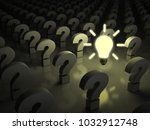 idea bulb glowing in the dark... | Shutterstock . vector #1032912748