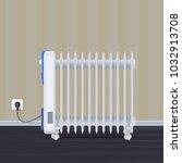 oil radiator in room with... | Shutterstock .eps vector #1032913708
