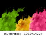 acrylic colors in water. ink... | Shutterstock . vector #1032914224