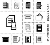 documents icons. set of 13... | Shutterstock .eps vector #1032917164