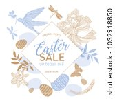 easter sale templates with eggs ... | Shutterstock .eps vector #1032918850
