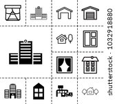 exterior icons. set of 13... | Shutterstock .eps vector #1032918880
