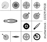 accuracy icons. set of 13... | Shutterstock .eps vector #1032919018