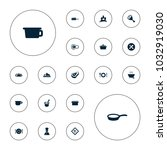 editable vector cook icons ... | Shutterstock .eps vector #1032919030