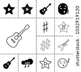 song icons. set of 13 editable... | Shutterstock .eps vector #1032919120