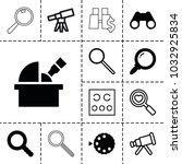 optical icons. set of 13... | Shutterstock .eps vector #1032925834
