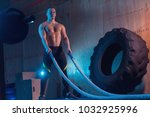 young man working out with... | Shutterstock . vector #1032925996