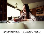 young business woman holding... | Shutterstock . vector #1032927550
