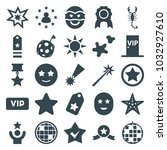 star icons. set of 25 editable... | Shutterstock .eps vector #1032927610