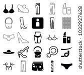 women icons. set of 25 editable ... | Shutterstock .eps vector #1032927628
