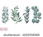 vector illustration sketch  ... | Shutterstock .eps vector #1032928360