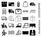 delivery icons. set of 25... | Shutterstock .eps vector #1032928498