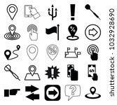 point icons. set of 25 editable ... | Shutterstock .eps vector #1032928690
