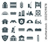 warehouse icons. set of 25... | Shutterstock .eps vector #1032929878