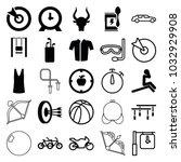 sport icons. set of 25 editable ... | Shutterstock .eps vector #1032929908
