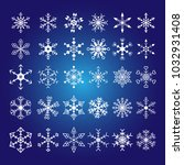 snowflake crystal element... | Shutterstock .eps vector #1032931408