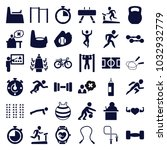 training icons. set of 36... | Shutterstock .eps vector #1032932779