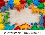 holiday frame. colorful... | Shutterstock . vector #1032935248