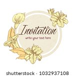 vector hand drawn romantic... | Shutterstock .eps vector #1032937108