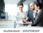 team of business partners... | Shutterstock . vector #1032938269