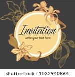 vector hand drawn romantic...   Shutterstock .eps vector #1032940864