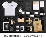 corporate identity design... | Shutterstock .eps vector #1032941944