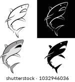 Isolated Shark   Clip Art...