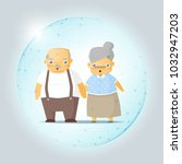 retirement concept with happy... | Shutterstock .eps vector #1032947203