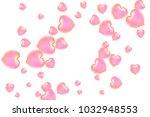 hearts confetti  bright... | Shutterstock .eps vector #1032948553