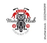 moto club logo  legendary team... | Shutterstock .eps vector #1032949099