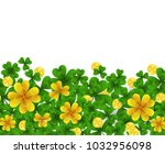 saint patrick s day border with ... | Shutterstock .eps vector #1032956098