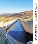 Small photo of Dam and spillway, Withens Clough Reservoir, above Cragg Vale, Calderdale, West Yorkshire, UK
