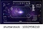 radar screen. elements for hud... | Shutterstock .eps vector #1032958210
