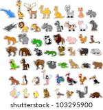 large set of animals | Shutterstock .eps vector #103295900