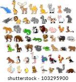 large set of animals   Shutterstock .eps vector #103295900