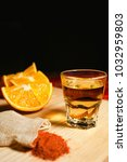 mezcal mexican drink with... | Shutterstock . vector #1032959803
