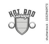 Hot Rod Garage Emblem. Radiato...