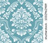 vector damask seamless pattern... | Shutterstock .eps vector #1032962989