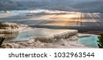 pamukkale  located 20... | Shutterstock . vector #1032963544