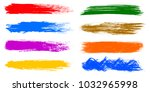 colored set of paint  brush... | Shutterstock .eps vector #1032965998