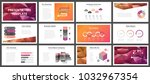 business presentation templates.... | Shutterstock .eps vector #1032967354