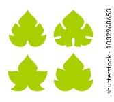 green vine leaf vector icon set ... | Shutterstock .eps vector #1032968653