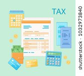 taxation concept. state... | Shutterstock . vector #1032973840
