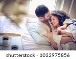 young couple at morning time.... | Shutterstock . vector #1032975856
