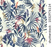 vector seamless beautiful... | Shutterstock .eps vector #1032976114