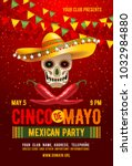 cinco de mayo poster or flyer... | Shutterstock .eps vector #1032984880