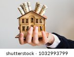 real estate and mortgage... | Shutterstock . vector #1032993799