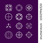 crosshairs icon set | Shutterstock .eps vector #1032996520