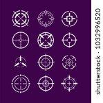 crosshairs icon set | Shutterstock .eps vector #1032996520