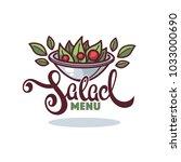 line art healthy cooking logo... | Shutterstock .eps vector #1033000690